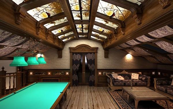 Бильярдная комната - это некий показатель статуса и состоятельности, вкуса и стиля владельца дома.  Но.