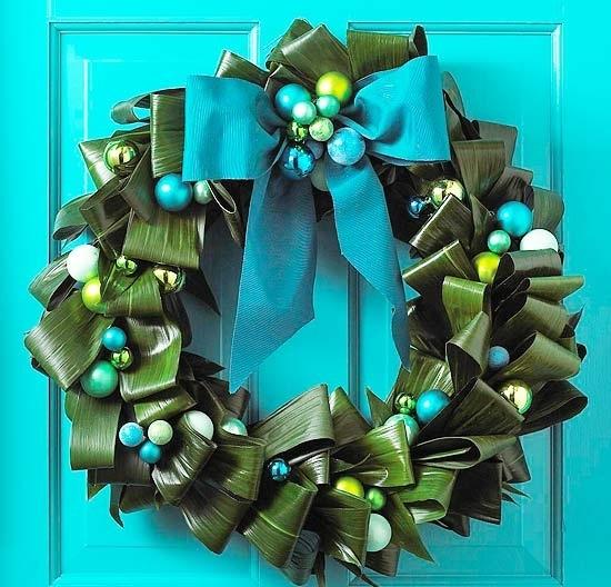 Венки новогодние своими руками из природных материалов