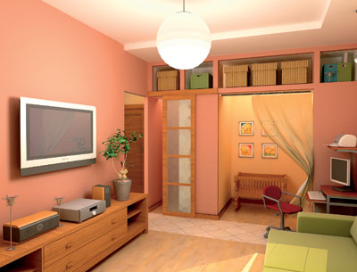 Дизайн однокомнатной квартиры с