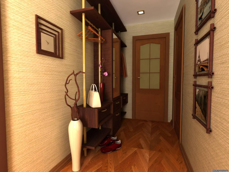 Обычный стандартный набор мебели для маленькой прихожей - это открытая