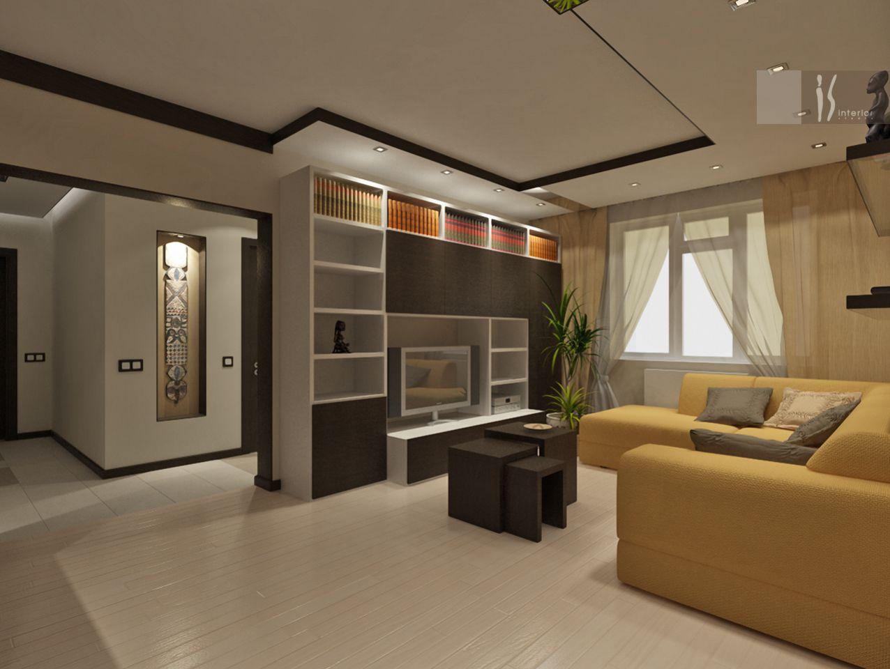 Интерьер квадратной гостиной фото