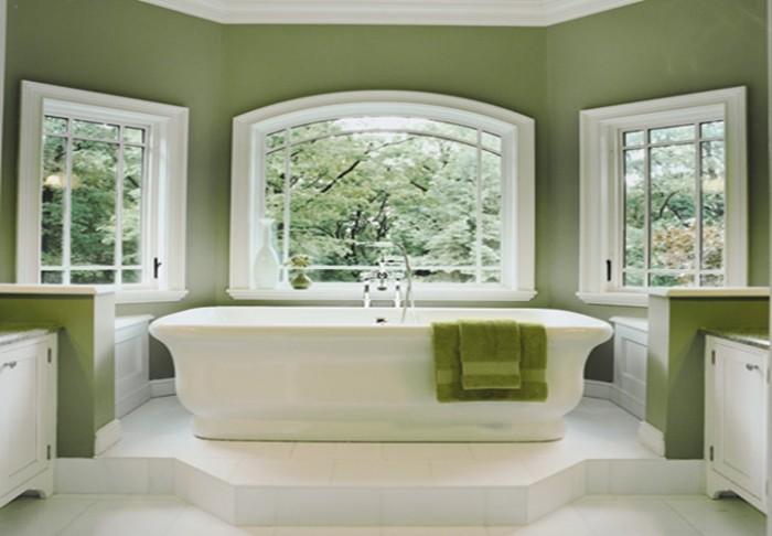Фото ванной комнаты в зеленом цвете