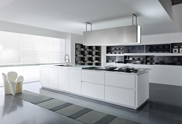 Navy and White Modern Kitchen  rainonatinroofcom