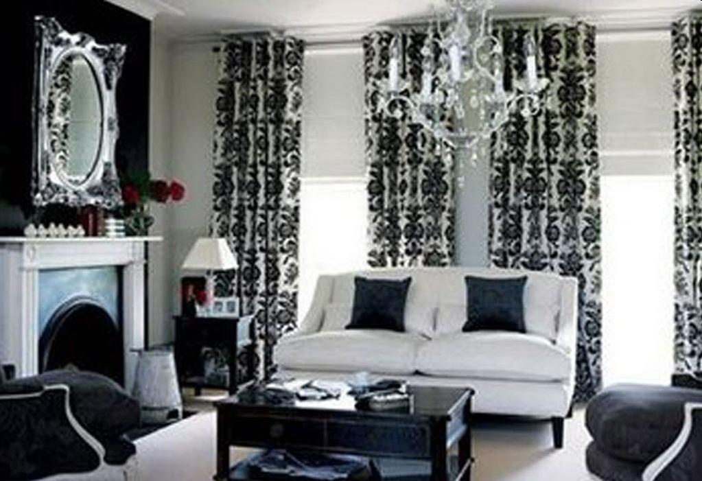 Черно - белая гостиная фото фото.