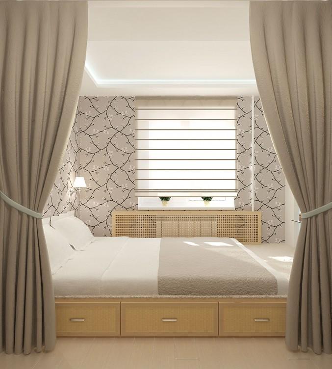 Подиум для кровати в спальне своими руками