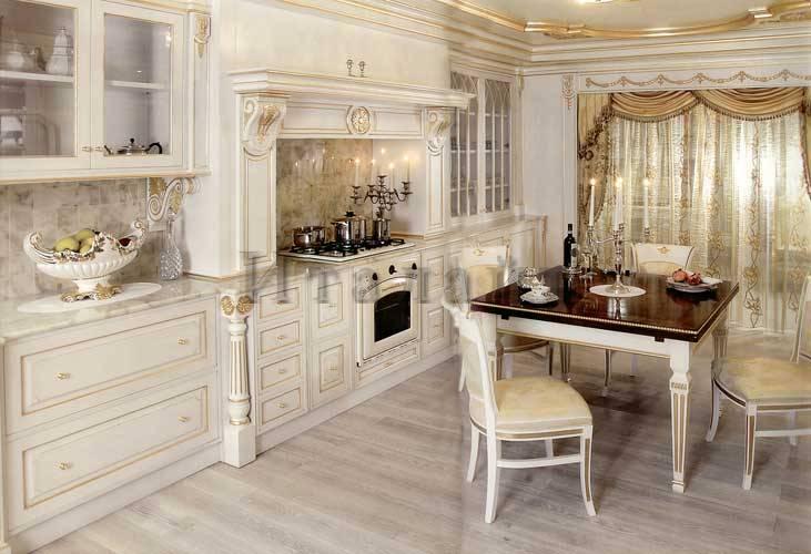 Дизайн интерьер кухни патина фото