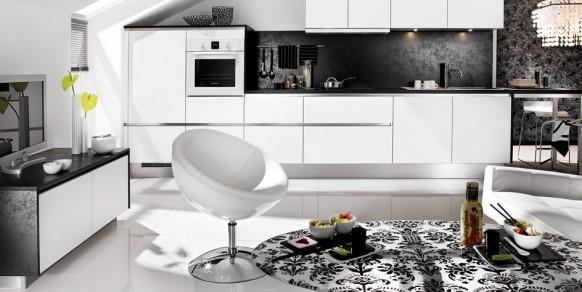 Черно белые кухни проекты от mobalpa