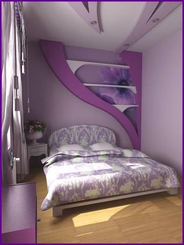 Описание: дизайн спальной комнаты для девушки.