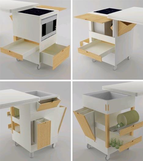 Функциональная компактная кухня: фото дизайнерских моделей мебели