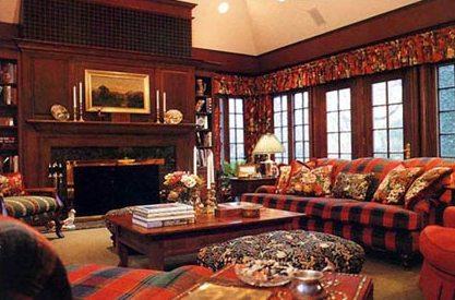 гостиная в английском стиле, фото