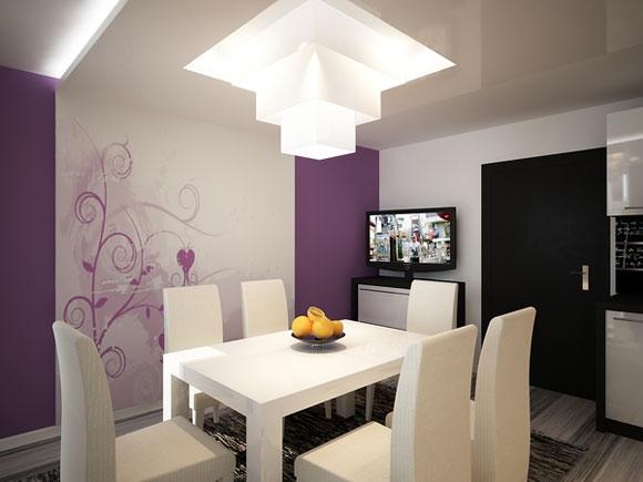 Шведский интерьер квартиры студии 58 кв. м. Проект интерьера квартиры в...