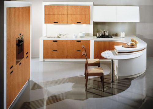 встроенные кухни фото