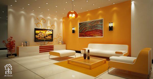 проект дизайна гостиной, фото